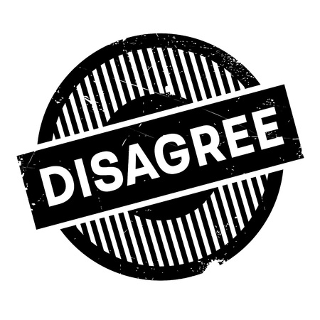 discord: Disagree rubber stamp. Grunge design with dust scratches. Effects can be easily removed for a clean, crisp look. Color is easily changed.