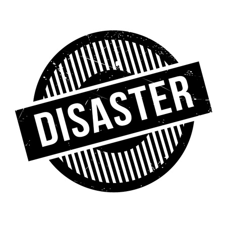 Disaster rubber stamp. Grunge design with dust scratches. Effects can be easily removed for a clean, crisp look. Color is easily changed.