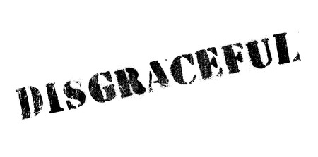 falta de respeto: Sello de goma de vergüenza. Diseño de Grunge con los rasguños polvo. Los efectos se pueden quitar fácilmente para una apariencia limpia y nítida. En color se cambia fácilmente. Vectores