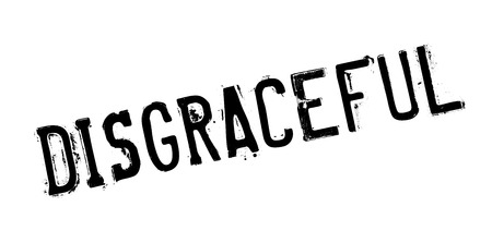 disgraceful: Disgraceful rubber stamp. Grunge design with dust scratches. Effects can be easily removed for a clean, crisp look. Color is easily changed.