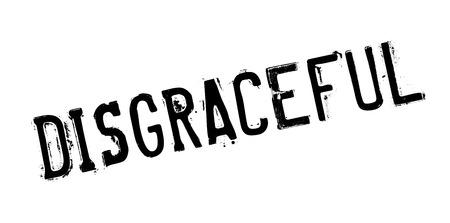 desprecio: Sello de goma de vergüenza. Diseño de Grunge con los rasguños polvo. Los efectos se pueden quitar fácilmente para una apariencia limpia y nítida. En color se cambia fácilmente. Vectores