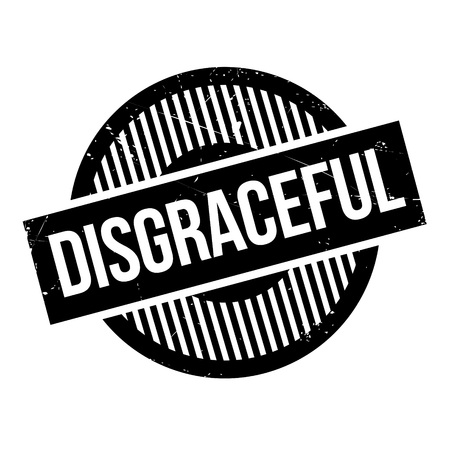 disgrace: Disgraceful rubber stamp. Grunge design with dust scratches. Effects can be easily removed for a clean, crisp look. Color is easily changed.