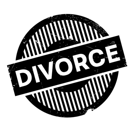 dissolution: Divorce rubber stamp. Grunge design with dust scratches. Effects can be easily removed for a clean, crisp look. Color is easily changed.