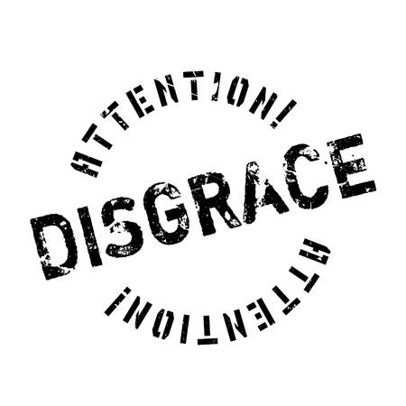 desprecio: sello de goma desgracia. Diseño de Grunge con los rasguños polvo. Los efectos se pueden quitar fácilmente para una apariencia limpia y nítida. En color se cambia fácilmente.