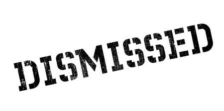 dismiss: Dismissed rubber stamp. Grunge design with dust scratches. Effects can be easily removed for a clean, crisp look. Color is easily changed.
