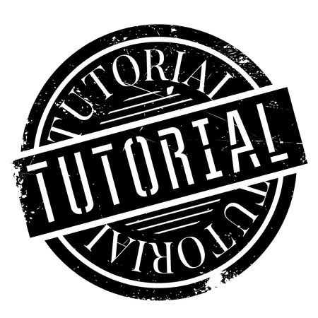 Tutorial stamp. Grunge design with dust scratches. Effects can be easily removed for a clean, crisp look. Color is easily changed. Illustration