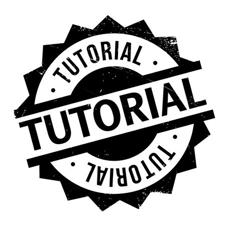 scholarly: Tutorial stamp. Grunge design with dust scratches. Effects can be easily removed for a clean, crisp look. Color is easily changed. Illustration