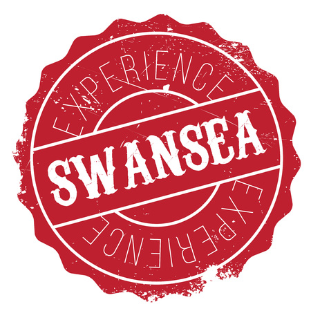 british culture: Swansea stamp. Grunge design with dust scratches. Effects can be easily removed for a clean, crisp look. Color is easily changed. Illustration