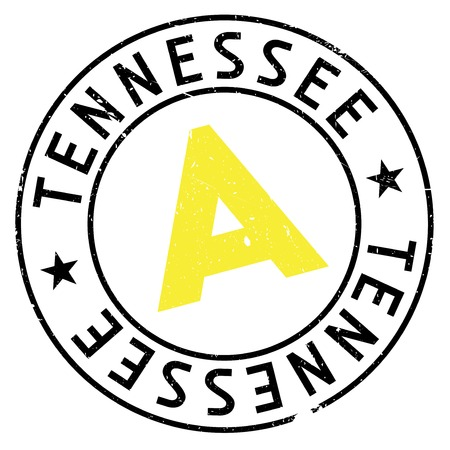 Tennessee stamp. Grunge design with dust scratches. Effects can be easily removed for a clean, crisp look. Color is easily changed.