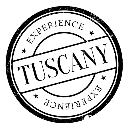 tuscany: Tuscany stamp. Grunge design with dust scratches. Effects can be easily removed for a clean, crisp look. Color is easily changed.