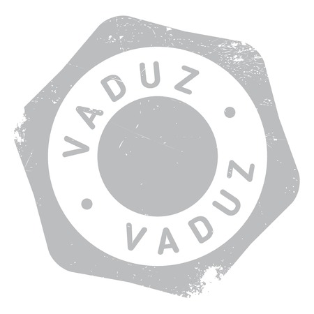 european alps: Vaduz stamp. Grunge design with dust scratches. Effects can be easily removed for a clean, crisp look. Color is easily changed.