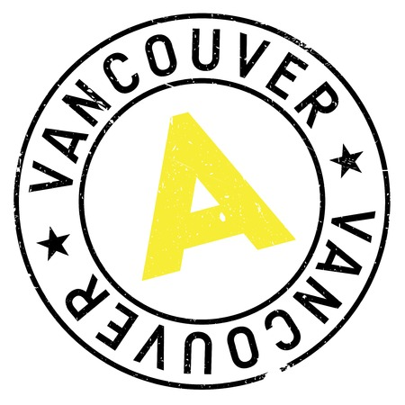 mainland: Vancouver stamp. Grunge design with dust scratches. Effects can be easily removed for a clean, crisp look. Color is easily changed.