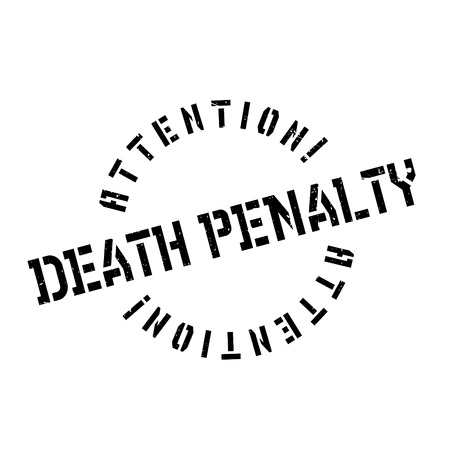 capital punishment: Death Penalty rubber stamp. Grunge design with dust scratches. Effects can be easily removed for a clean, crisp look. Color is easily changed. Illustration
