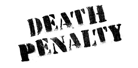 deter: Death Penalty rubber stamp. Grunge design with dust scratches. Effects can be easily removed for a clean, crisp look. Color is easily changed. Illustration