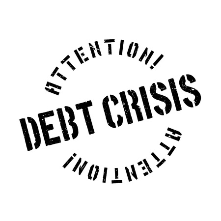 credit crunch: Debt Crisis rubber stamp. Grunge design with dust scratches. Effects can be easily removed for a clean, crisp look. Color is easily changed.