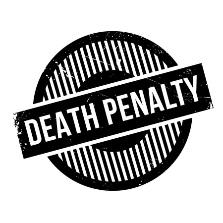 retribution: Death Penalty rubber stamp. Grunge design with dust scratches. Effects can be easily removed for a clean, crisp look. Color is easily changed. Illustration