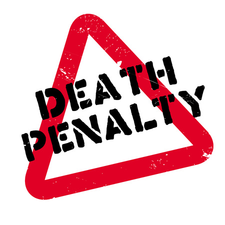 Death Penalty rubber stamp. Grunge design with dust scratches. Effects can be easily removed for a clean, crisp look. Color is easily changed. Illustration