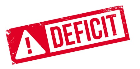 Deficit rubber stamp. Grunge design with dust scratches. Effects can be easily removed for a clean, crisp look. Color is easily changed.