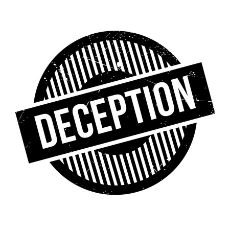 fallacy: Deception rubber stamp. Grunge design with dust scratches. Effects can be easily removed for a clean, crisp look. Color is easily changed.