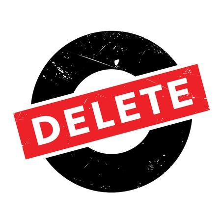 eliminate: Delete rubber stamp. Grunge design with dust scratches. Effects can be easily removed for a clean, crisp look. Color is easily changed. Illustration