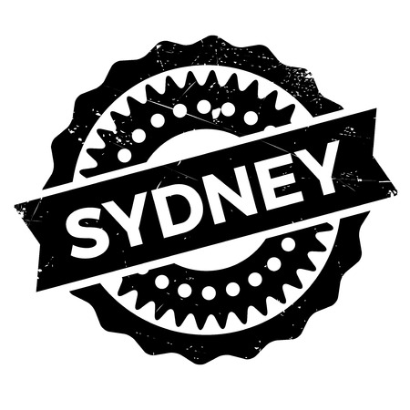 outback: Sydney stamp. Grunge design with dust scratches. Effects can be easily removed for a clean, crisp look. Color is easily changed. rubber grunge Illustration