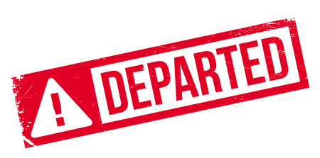 depart: Departed rubber stamp. Grunge design with dust scratches. Effects can be easily removed for a clean, crisp look. Color is easily changed. Illustration