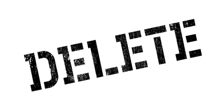 Delete rubber stamp. Grunge design with dust scratches. Effects can be easily removed for a clean, crisp look. Color is easily changed. Illustration