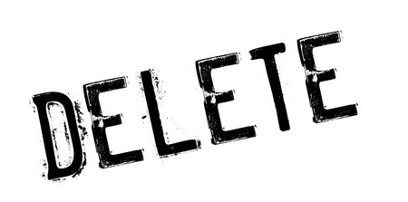 squelch: Delete rubber stamp. Grunge design with dust scratches. Effects can be easily removed for a clean, crisp look. Color is easily changed. Illustration