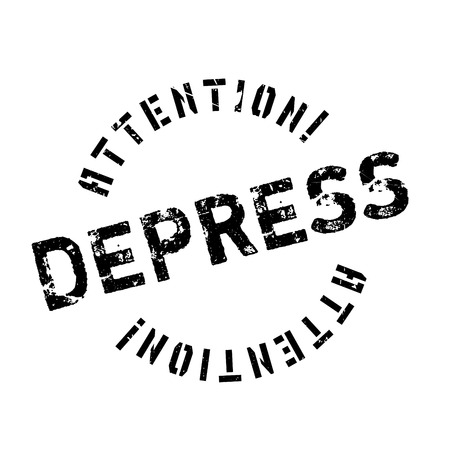 depress: Depress rubber stamp. Grunge design with dust scratches. Effects can be easily removed for a clean, crisp look. Color is easily changed.