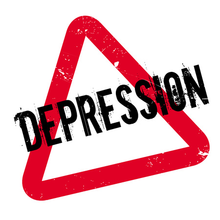 Depression rubber stamp. Grunge design with dust scratches. Effects can be easily removed for a clean, crisp look. Color is easily changed.