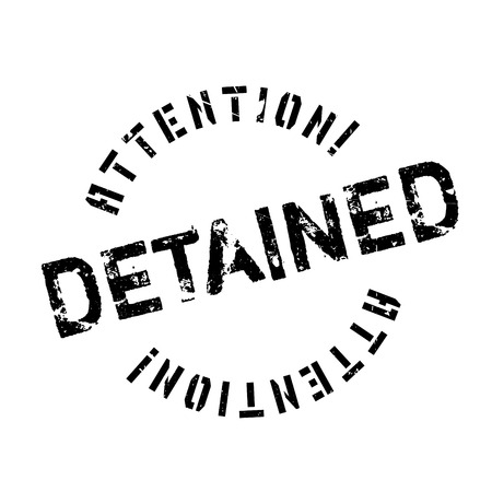 confine: Detained rubber stamp. Grunge design with dust scratches. Effects can be easily removed for a clean, crisp look. Color is easily changed.