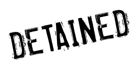policing: Detained rubber stamp. Grunge design with dust scratches. Effects can be easily removed for a clean, crisp look. Color is easily changed.