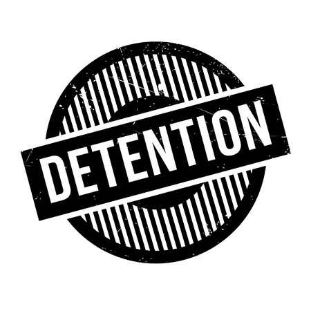 confined: Detention rubber stamp. Grunge design with dust scratches. Effects can be easily removed for a clean, crisp look. Color is easily changed.