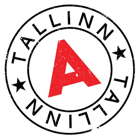 Tallinn stamp. Grunge design with dust scratches. Effects can be easily removed for a clean, crisp look. Color is easily changed. rubber grunge Illustration
