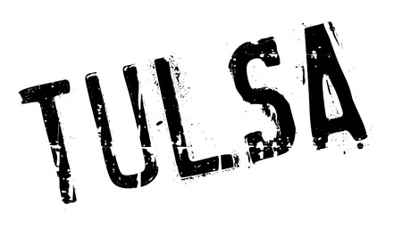 Tulsa stamp. Grunge design with dust scratches. Effects can be easily removed for a clean, crisp look. Color is easily changed. rubber grunge