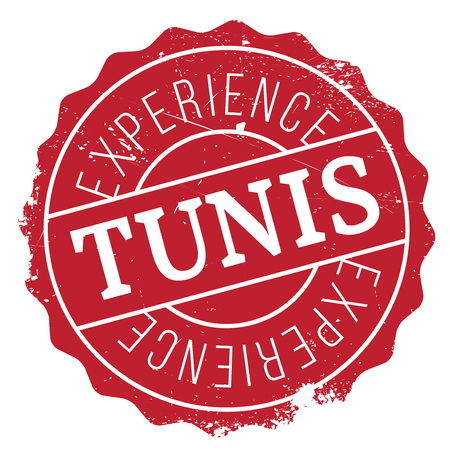 Tunis stamp. Grunge design with dust scratches. Effects can be easily removed for a clean, crisp look. Color is easily changed. rubber grunge