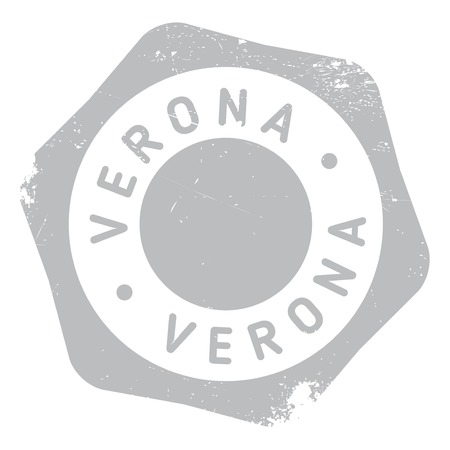 Verona stamp. Grunge design with dust scratches. Effects can be easily removed for a clean, crisp look. Color is easily changed. rubber grunge