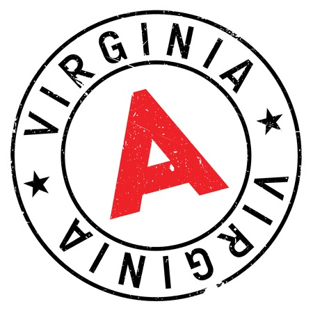 Virginia stamp. Grunge design with dust scratches. Effects can be easily removed for a clean, crisp look. Color is easily changed. rubber grunge