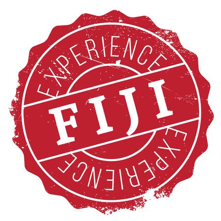 Fiji stamp rubber grunge Illustration