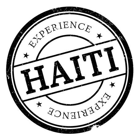 haiti: Haiti stamp rubber grunge Illustration