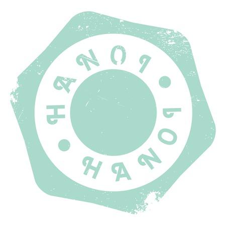 indochina peninsula: Hanoi stamp rubber grunge