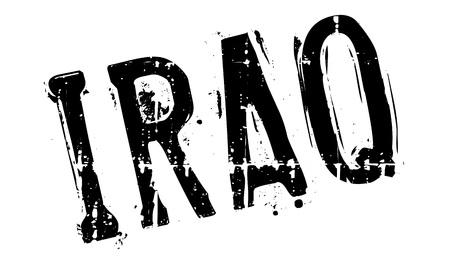 iraq war: Iraq stamp rubber grunge