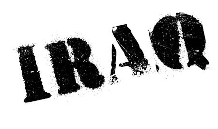 iraq: Iraq stamp rubber grunge