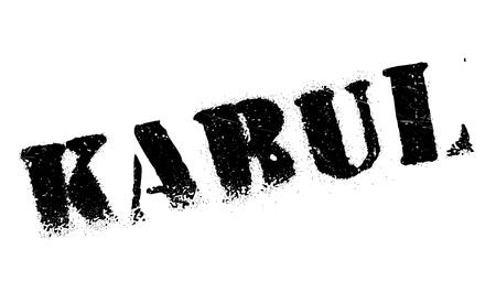 afghan: Kabul stamp rubber grunge Illustration