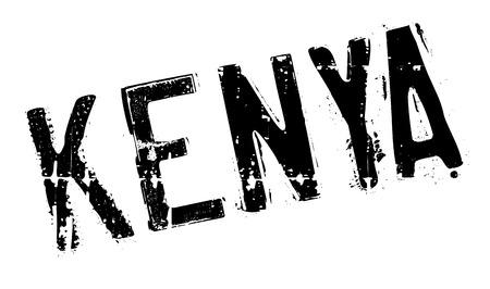 kenya: Kenya stamp rubber grunge