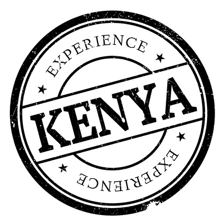 swahili: Kenya stamp rubber grunge