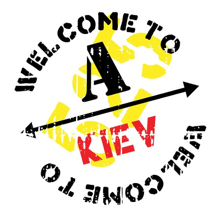 Kiev stamp rubber grunge