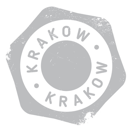 krakow: Krakow stamp rubber grunge