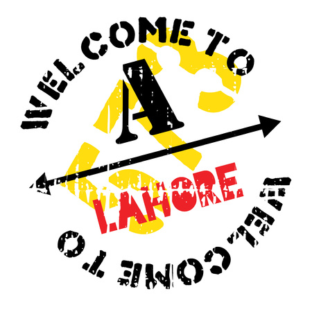 Lahore stamp rubber grunge