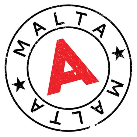 Malta stamp rubber grunge Illustration